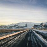 Driving in winter in Iceland