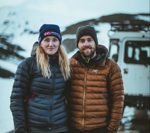 Guillaume and Solla the local Icelander team